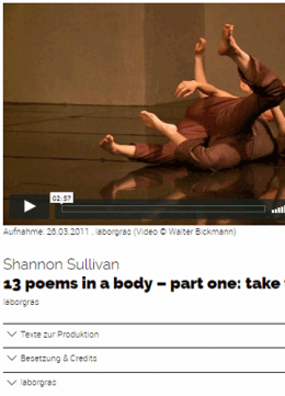 13 poems in a body - part one: take two - Trailer