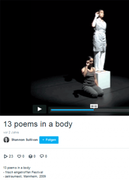 13 poems in a body - Video