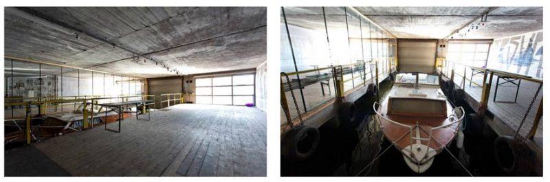 Blick in das Bootshaus